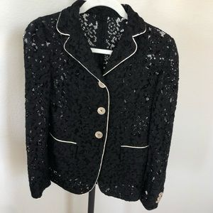 🖤GUCCI🖤 Black Unlined Lace Blazer Sz 40 FAB!